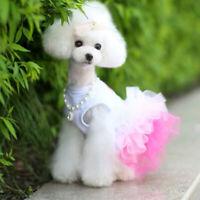 Fashion Pet Dog Cute Princess Lace Bow Skirt Coat Clothes Puppy Dog Tutu Dress