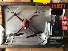 Brand New Propel Velocity HD Video Drone + FPV VL-3501 Quadrocopter Red Camera