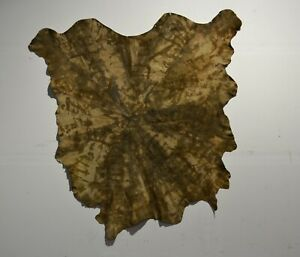NEW Cowhide Rug Suede Leather tie dyed Brown Gray beige tan white cream large XL