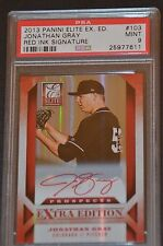 Jonathan Gray 2013 Elite Extra Prospects Red Autograph Card 11/25 PSA 9 MINT