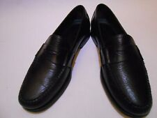 H.S. Trask Bozeman Montana Men Leather Loafers Shoes Size 9M Black Brazil