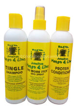 Jamaican Mango & Lime Tingle Shampoo, Protein Conditioner,No More Itch Gro Spray