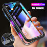 Cover Per Huawei P10 P20 Pro Lite Magnetico alluminio Vetro temperato custodia