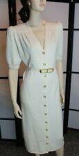 VTG St. John Collection by Marie Gray Dress Santana Knit Button Up Women's M/L