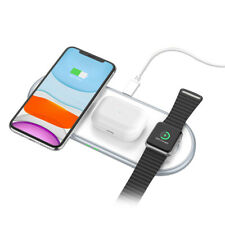 10W 3in1 Qi Wireless Charger Pad Mat For Apple Watch 5/4/3/2/1 iPhone 11 11Pro