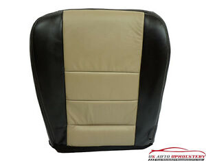 2005 Ford Excursion EDDIE BAUER Leather Passenger Bottom Seat Cover Black/Tan