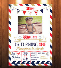 Birthday Child Nautical Greeting Cards Invitations eBay