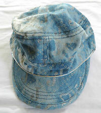 NWT Girl's *GLAM* Denim & Silver Accent Ballcap by Justice