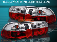 Fit For 92 93 94 95 HONDA CIVIC TAIL LIGHTS 2/4D R/C CRYSTAL