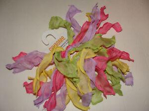 Gymboree Happy Birthday Girl Pastel Hair Bows Ponytail Organza NEW NWT Girls