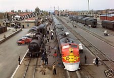Historical Photograph of Santa Fe Streamliner Train in New Mexico 1943  13x19