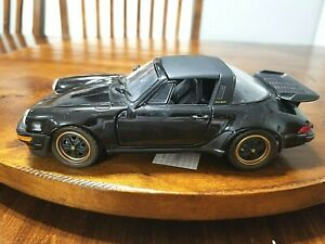 1988 Black Open Top Porsche 911 Franklin Mint Diecast Model 1:24 scale