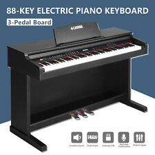 Electric Digital 88 Key Music LCD Piano Keyboard W/ Stand+Adapter+3-Pedal Board