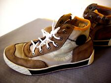 TIMBERLAND EARTHKEEPERS BOYS BEIGE LEATHER ANKLE BOOTS UK 1 GREAT CONDITION