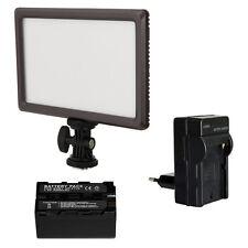 Blendfreie LED Videoleuchte Bi-Color LUXPAD 22 mit Akku 4200 mAh und Ladegerät