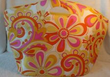 Large Clinique Pink and Yellow Floral Travel Beach Bag