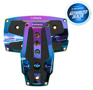 NRG Sport Pedals Neo Chrome with Black Rubber Inserts Auto PDL-250MC
