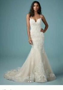 BRAND NEW MAGGIE SOTTERO WEDDING DRESS UK 18 BLUSH OVER IVORY STUNNING