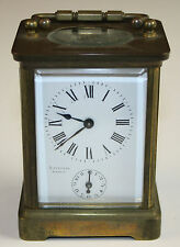 CLOCK OF CARRIAGE. DISCAZAUX BIARRITZ. BRONZE AND GLASS. 19TH CENTURY.