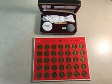 FRANKLIN MINT PRESIDENTIAL Hall of Fame 35 Bronze Coins & Coin Cleaner Kit