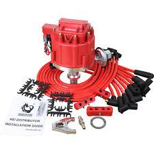 New HEI Distributor and Plug Wire Set For Chevy SBC BBC 283 305 350 396 400 427