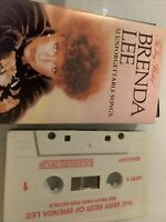 BRENDA LEE THE VERY BEST OF cassette tape album #1