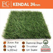 More details for 34mm kendal artificial grass european fake lawn / turf / astro - 4m & 2m widths