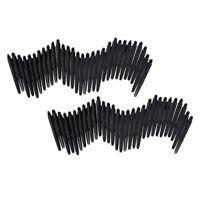 60Pcs Durable Nylon 2BA Thread Dart Shafts Dart Stems Medium 43mm Black