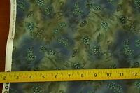 "By-the-Half-Yard, 44"", Blue & Green Quality-Cotton, David Textiles, M4476"