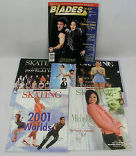 (6) MICHELLE KWAN COVER ICE SKATING MAGAZINES - FIGURE SKATING  1998, 1999, 2001