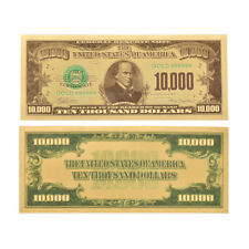 WR 1981 US$10000 Ten Thousand Dollar Bill 24K Gold Foil America Banknote Collect