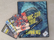 SDCC 2018 Official Swag Bag Complete Pin Programs The Meg Bag Lanyard NEW