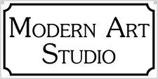Modern Art Studio-6x12 Aluminum home novelty sign