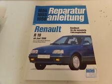 Reparaturanleitung Renault R19 * R 19 / Cabrio ab 6/88 Benziner & Diesel Neuw.