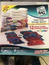 Original Space Bag - Multi Color Set of 12 Space Saving Bags Lg & XL