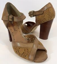RED HERRING SHOE-LICIOUS BROWN ANKLE STRAP SANDALS  UK 7 EU 41 WEDDING PARTY