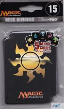 Deck Dividers 15 count pack Ultra Pro Mana Colors Mtg Unhinged art for deck card