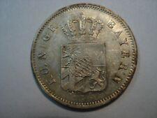 GERMAN STATES   BAVARIA  SILVER  6  KREUZER   1842    UNC
