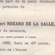 Charles Maurice Henri Roxard De La Salle Nancy 1882