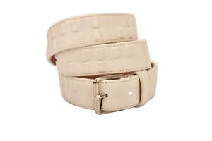 Emporio Armani Mens BTEAU25 Belt Leather EAU Beige Size 50