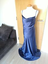 Ladies MONSOON Dress Size 16 Blue Long Maxi Evening Party Wedding Occasion