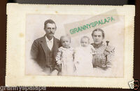 Antique Photo - WATKINS Family, Man, Lady, 2 Young Children (+ Ford Family)