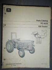 John Deere tracteur 820 : catalogue de pièces 1971