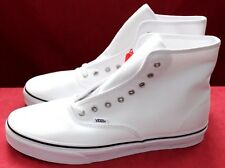 VANS OFF THE WALL MEN'S CANVAS SKATE SHOES ANKLE BOOTS WHITE SIZE UK 11 EU 46