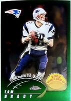 2002 Topps Chrome Tom Brady Weekly Wrap Up Card #150 Patriots Bucs SP Nice!!