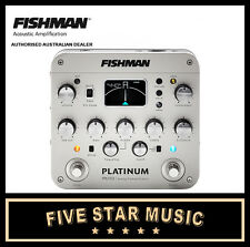 FISHMAN PLATINUM PRO EQ / DI ANALOG PREAMP PEDAL FOR ACOUSTIC GUITAR & BASS -NEW