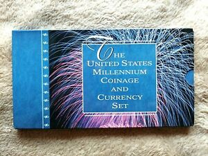 "2000 U S MILLENNIUM COINAGE AND CURRENCY SET LOW 3 DIGIT NUMBER ""G 20000783 A"""