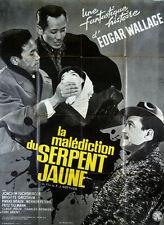 Affiche 120x160cm LA MALÉDICTION DU SERPENT JAUNE 1963 Gottlieb Fuchsberger BE #