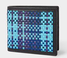 Paul Smith Portafoglio Uomo-Nuovissimo con etichetta blu firma Multicolore Tessuto Check Wallet