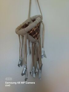 Vintage Miniature Native American Worry/ Burden  Basket -  Apache